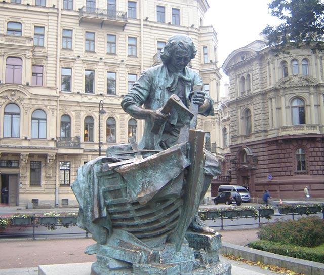 Памятник Царь-плотник в Санкт-Петербурге