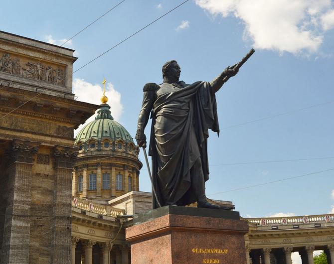 Памятник М.И. Кутузову в Санкт-Петербурге