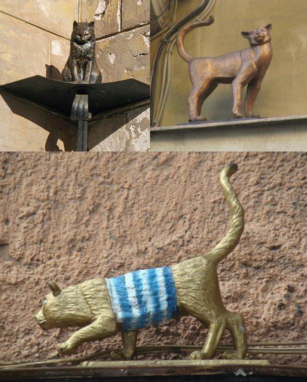Памятники котам в СПб