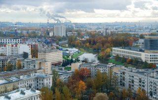 Карта достопримечательностей, Меблированные комнаты Вернисаж - метро Гражданский Проспект на севере Санкт-Петербурга